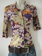 Vintage Kookai Cherry Blossom Kimono Style Pattern Sheer Blouse Top Size 1