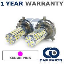 2X XENON PINK H4 120 SMD LED DIPPED BEAM BULBS FOR VOLVO S40 V40 SAAB 9-3