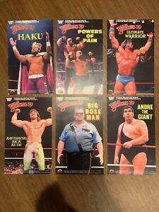 WWF LJN BLACK CARD REPLICA POSTERS LOT OF 6 ANDRE HAKU WARRIOR BOSSMAN RUDE