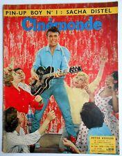►CINE MONDE 1336/1960-PETER KRAUSS-ROMY SCHNEIDER-BRIGITTE BARDOT-MAURICE RONET