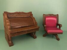 Sylvanian FAMILIES desk & chair vintage mobili per ufficio Calico Critters RICAMBI