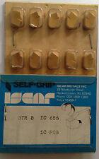 ISCAR GTR 5 IC 656 Carbide Inserts Grooving 10 Pcs Lathe Self Grip Cut-Off Gold