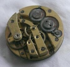 MOVEMENT POCKET WATCH CYLINDER . 40MM DIAMETER - FOR REPAIR OR PARTS -