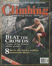 Vintage Climbing Magazine Issue 205, August 1, 2001