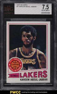 1977 Topps Basketball Kareem Abdul-Jabbar #1 BVG 7.5 NRMT+