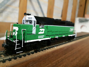 Atlas Burlington Northern GP40 #3517 fitted with an NCE decoder in original box.
