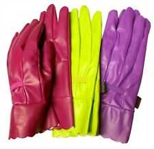 TOWN & COUNTRY TGL206 AQUA SURE ORCHID GARDENING GARDEN GLOVES - LADIES ONE SIZE