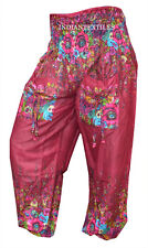 INDIAN BAGGY GYPSY HAREM PANTS YOGA MEN WOMEN COTTON DOUBLE BORDER TROUSERS L;