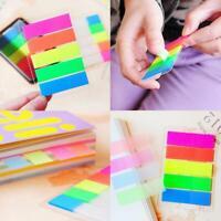 5 Notizen Fluoreszenz 100 Stücke Haftnotizen Memo Flags Lesezeichen Marker Heiß