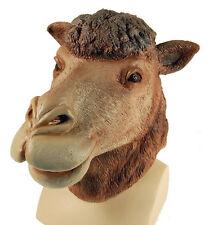 CAMEL Overhead Gomma Maschera Costume Costume di Scena CAMMELLI Testa