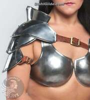 "Gladiator female bust ""Princess of warrior"", larp, fantasy, cosplay women armor"