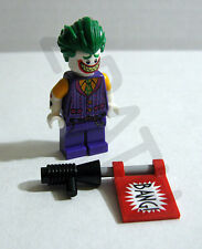Lego Batman Movie NEW Joker minifigure w/ bang gun 70906 Notorious Lowrider 2017