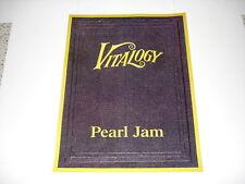 PEARL JAM promo poster Vitality 1994 rare 19x25 inches