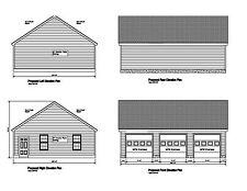 36'x28' -Gable Roof Plans 28'X36' Print Blueprint Plan #17-2836Gbl-1 12:8 Pitch