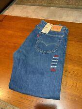 Levis 505 regular straight fit 36x32 blue jeans mens denim medium wash NEW a7-5