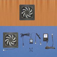 Mega-fan AV cabinet 12 volt trigger-controlled cooling system with multi-speed