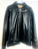 Weatherproof Leather Jacket Mens Size L to XL Reversible Brown Light Brown