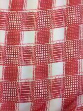 Designer Red / White Check Print Chiffon Fabric Dress Craft wedding