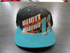 VINTAGE Dan Marino Snap Back Hat Cap Black Bill Elliott Football NASCAR Mens 90s
