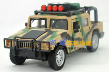 Alloy 1:32 US Army Hummer H1 four door car with light model