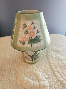 Yankee Candle Votive Holder with Shade Topper Purple Pink White Yellow Flowers