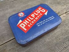 More details for collectable vintage c1960's philplug screwfix tin only