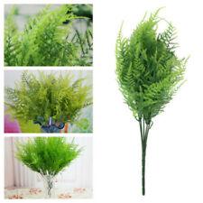 Artificial Plastic 7 Stems Plant Green Asparagus Fern Grass Bushes Flower Decor