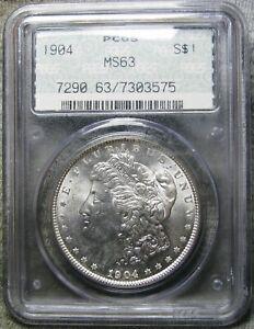 1904 Morgan Dollar Silver Rare DOILY Slab ---- PCGS Graded MS-63 ----  #782