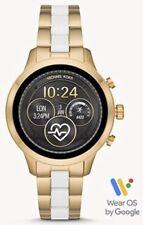 SEALED MICHAEL KORS RUNWAY ACCESS Gold & White Touchscreen Smartwatch MKT5057