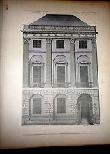 Robert & James Adam, Architecture, Decoration & Furniture Folio, 64 Plts Ca 1880