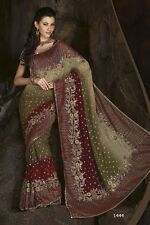 Stylish Exclusive Cocktail Dress Party Wear Designer Indian Latest Green Saree