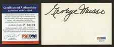 George Musso signed autograph 3x5 index card PSA/DNA