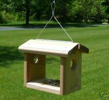 Kettle Moraine Hanging Cedar Bluebird Mealworm Feeder #8515 Offer Mealworms