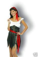 Pirate Lady 4 Piece Ladies Fancy Dress Costume - Size 10 -14 - New & Sealed