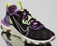 Nike React Vision Men's Black Sail Dark Smoke Grey Low Lifestyle Shoes Sneakers