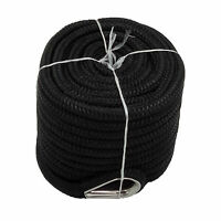 1/2″ x 100′ Double Braid Nylon Rope Anchor Line with Thimble Black