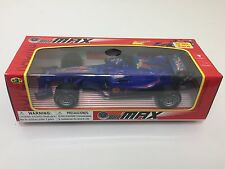 New Max Super racing Friction Car with multi Color flashing lights Blue