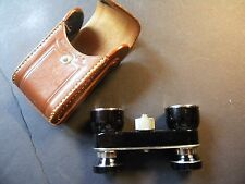 Occupied Japan Small Binoculars 2.5x Leather Case Vintage Opera Glasses Field