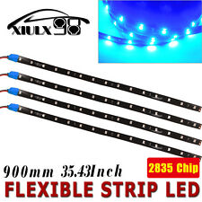 4X 12V 2835 90CM High Power Waterproof LED Car Decorative Strip Light Blue