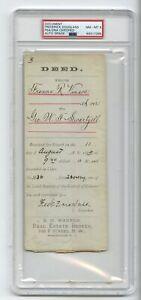 Frederick Douglass - Civil Rights Abolitionist Autographed 1885 Doc PSA Slabbed