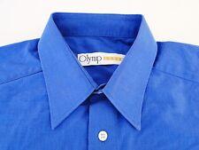 Olymp Luxor Herren Hemd Langarm Blau Strukturiert KW41
