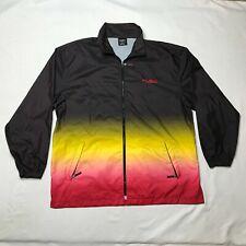 VINTAGE FUBU Extreme Sports Windbreaker Jacket Mens 2XL Brown Red Full Zip XXL