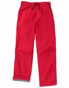 NWT Gymboree Boys Pull on Pants Jersey lined RED gymster Kids and Toddler