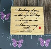 Stampin' Up! Thinking Of You On This Special Day Rubber Stamp 1999 #K158
