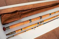 Canne à pêche bambou rod fishing vintage bamboo cane case wood HARDY ancien coup