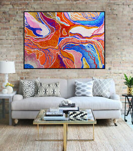 HUGE  120cm by 100cm Dot Painting, Abstract Contemporary Aboriginal Style