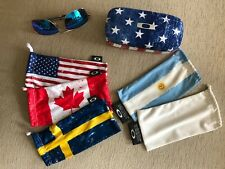 Oakley Gauge 6 + Oakley USA Flag Square O Hard Case + 5 Country Flag microbags
