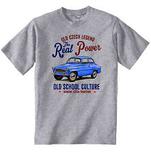 VINTAGE CZECH CAR SKODA OCTAVIA - NEW COTTON T-SHIRT