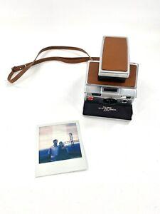VINTAGE polaroid SX-70 Land Camera Alpha 1 Brown USA TESTED-WORKS Excellent