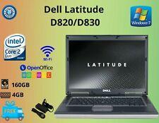 """Dell Latitude D820 INTEL CORE 2 DUO 15.4"""", HDD 250GB RAM 4GB WIN 7 WIFI USB"""